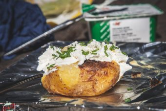 Baked potatoes alla brace